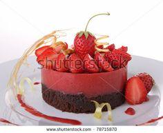 stock photo: Postre delicioso chocolate y fresa
