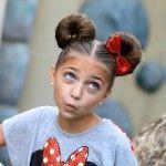 Minnie Mouse bun tutorial... So cute!!!