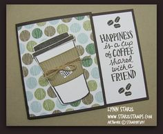 Coffee Cafe Stamp Set, Coffee Cups Framelits Dies Bundle Gift Card