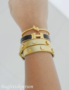 how to stack hermes bracelets - Google Search
