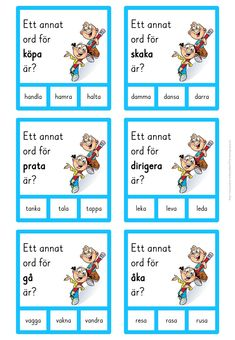 Learn Swedish, Swedish Language, Kindergarten, Preschool, Parenting, The Incredibles, Teacher, Reading, Experiment