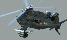 Z-10 helicóptero de ataque.