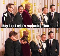 The Avengers. Robert Downey Jr. and Jeremy Renner. At their finest