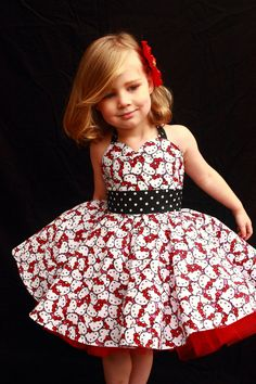 Rockabilly Hello Kitty Dress by DarlingInDisguise on Etsy, $40.00 Annabelle would fall in love
