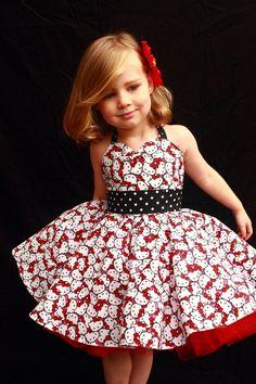 Hallo Kitty Rockabilly Kleid von DarlingInDisguise auf Etsy