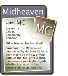 #Astrology #Zodiac #Midheaven #MC For more Zodiac related posts, please check out my FB page:  https://www.facebook.com/TheZodiacZone