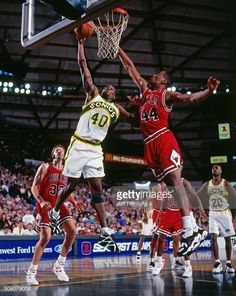 Shawn Kemp Pictures and Photos. Shawn Kemp of the Seattle Supersonics  shoots against the Chicago Bulls circa 1995 at Key Arena in Seattle  Washington NOTE ... fae97d09d