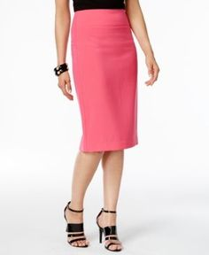 Alfani Classic Pencil Skirt, Only at Macy's  - Pink 6