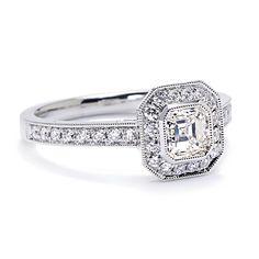 Greenwich Jewelers | Sylvie Bridal Collection Asscher-Cut Diamond Engagement Ring