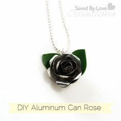 Make Rose Pendants From Aluminum Cans Using Sizzix in this detailed video tutorial from Saved By Love Creations