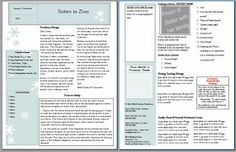 her notebook: Relief Society Newsletter Templates