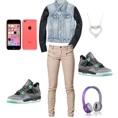 newest collection 5a3ae d0b22 Juss hanging with friends!! by ballislife00 on Polyvore Cheap Jordan Retro  4 Grade School only  61.2, save up to 59% off for all  Nikes  Shoes
