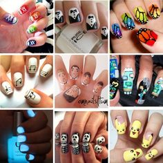 """""""Epic nails :P"""" by trishaissmiling ❤ liked on Polyvore"""