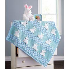 Mary Maxim - The Bunny Trail Blanket