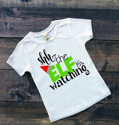 Kid's Christmas Shirt Shh The Elf Is Waching Funny Christmas Shirt Toddler Boy's Holiday Tee Youth Boy's Christmas Tee Long Sleeve Elf Shirt by SimplySweetJBoutique on Etsy