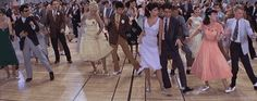 tumblr_llo3rg2QTA1qh2o7zo1_500.gif 500×199 pixels Grease Dance, Grease Live, Grease Style, Grease 1978, Grease Is The Word, Danny Zuko, Make Your Own Animation, Prom Dance, We Go Together
