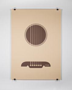 screenprinted 'folk' poster by EDIT