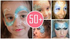 2014 Halloween you should see these gorgeous Frozen face paint that fit the costumes so well !