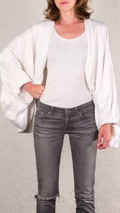 SilkDenim's Thick Tee Shrug Made From 100 Recycled by SilkDenim