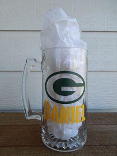 Greenbay Packers 27 ounce Sport Beer Mug - Football - Go Pack Go. $12.50, via Etsy.