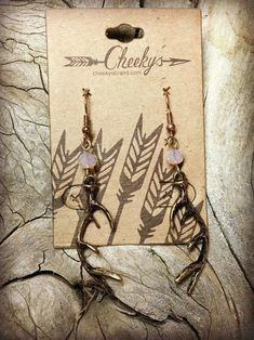 Antler Shed Burnished Gold Earrings with Soft Pink Beads Country Girl Life, Country Wear, Cute N Country, Country Outfits, Western Outfits, Country Girls, Antler Jewelry, Hair Jewelry, Gold Jewelry