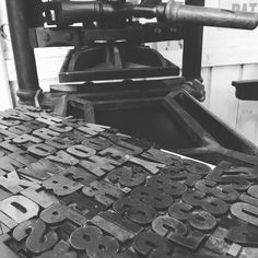 Press maintenance sorted time for some composition #Woodtype and Albert the Albion
