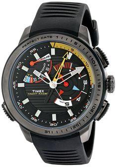 Timex Men's TW2P44300DH Intelligent Quartz Yacht Racer Analog Display Analog Quartz Black Watch