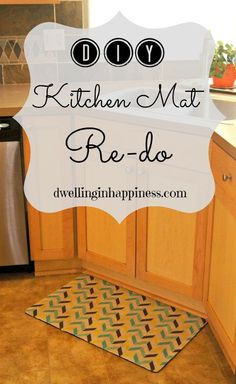 Give new life to an old kitchen mat easily