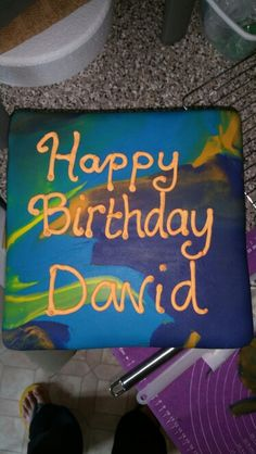 Multi-coloured cake