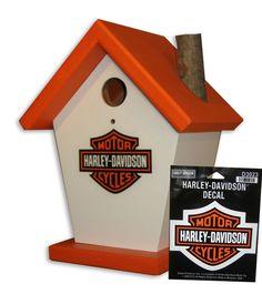 HD Harley Davidson bird house
