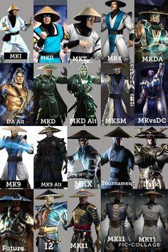 Evolution of Raiden : MortalKombat Raiden Mortal Kombat, Scorpion Mortal Kombat, Lord Raiden, Noob Saibot, Johnny Cage, Calvin And Hobbes Comics, Ghost Movies, Fantasy Tattoos, Tomb Raider Cosplay
