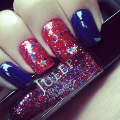 4th of July nails ♡♡♡♡♡♡