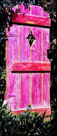 Love this! Gives me the idea, that if I don't find the right door that I want I can just make what I want! Love the unexpected color!