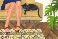 La sieste - Mélanie Voituriez #gouache #illustration #melanievoituriez