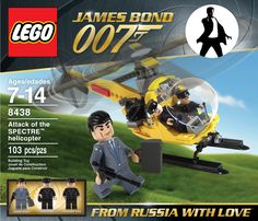 I love James Bond movies and always thought they would make for some cool Lego sets. So I put together some Lego Bond concept sets just. James Bond Actors, James Bond Movies, Indiana Jones, Best Lego Sets, Bond Cars, Lord, Lego Worlds, Lego Models, Lego Super Heroes
