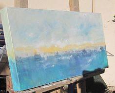 Art Ocean Seascape Abstract Painting Inverness by lindadonohue, $195.00