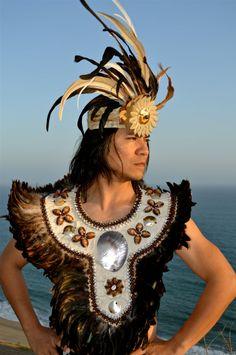 Tahitian Tane Taumi with authentic tapa cloth by ISLANDMANA, $295.00