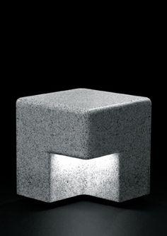 Kim HyunJoo | Cube outdoor bench + light, 2010