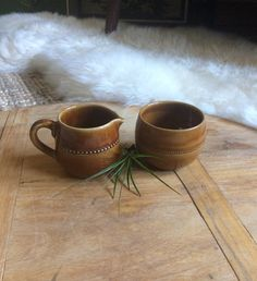 Vintage Swedish Cream and Sugar Set  Hoganas by WoodcockPocket