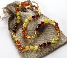 multi amber beads
