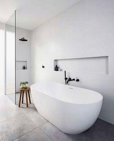 Bathroom Renos, Laundry In Bathroom, Bathroom Layout, Modern Bathroom Design, Bathroom Interior Design, Bathroom Renovations, Shower Bathroom, Tiled Bathrooms, Modern Bathtub