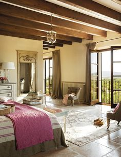 can you see yourself waking up in this bedroom every morning?  Oh....I can!  French Bedroom. Beautiful French #Bedroom