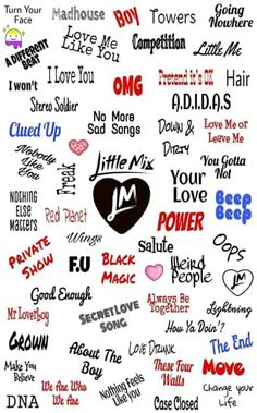 All of Little Mix Songs which I love so much
