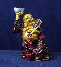 Hong Tze Buddha with Money Frog Figurine Sculpture Collectible Religious Fung Shui Ebay