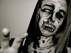 The Walking Dead Comic Book Zombie Makeup. - YouTube