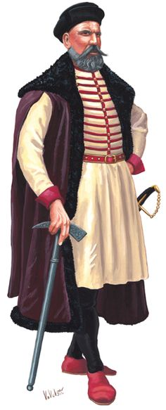 Croatian nobleman, 1600  ° < ru? (wh:Husaria) https://de.pinterest.com/gif51/%D0%BF%D0%BE%D0%BB%D1%8C%D1%81%D0%BA%D0%B8%D0%B9-%D0%BA%D0%BE%D1%81%D1%82%D1%8E%D0%BC-1600/