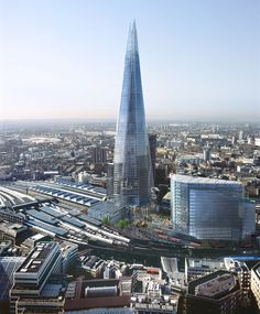 The new Shard building, London. The Shard will be the tallest building in western Europe at 1,020ft.