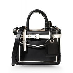 SALE IS ON! Extra 15% off select full-priced and sale items on ShopBAZAAR. Ends TONIGHT! - Reed Krakoff Black & White Mini Boxer Tote