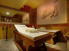 Castello di San Marco (Calatabiano - Catania) Sicily Hotels, Holiday Resort, Catania, Hotels And Resorts, Corner Bathtub, Bali, Spa, Dining Table, Furniture