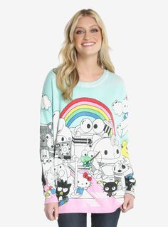 All your favorites on one sweater | JapanLA hello sanrio Characters Lurex  Sweater
